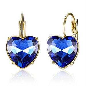Jewelry - 💙Blue Crystal Heart Rhinestone Earrings💙